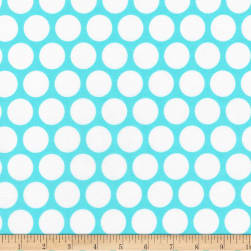 Kaufman Spot On Geo Dot Aqua Fabric
