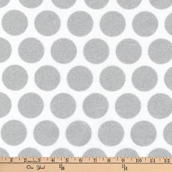 Kaufman Spot On Metallic Geo Dot Silver Fabric
