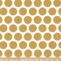 Kaufman Spot On Metallic Geo Dot Blanc Fabric