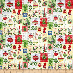 Season's Greetings Ornaments Multi Fabric