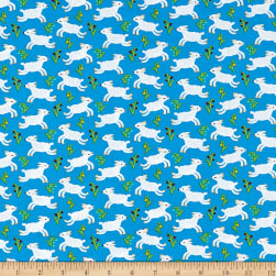 Nursery Rhymes Lambs Blue Fabric