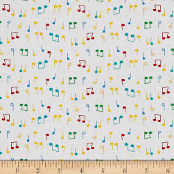Nursery Rhymes Musical Notes White