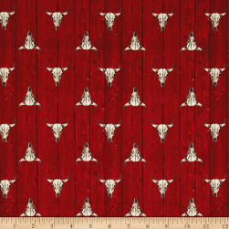 Ranch Hands Longhorn Red Fabric