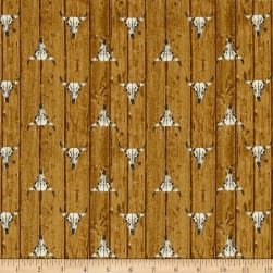 Ranch Hands Longhorn Tan Fabric