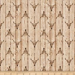 Ranch Hands Longhorn Cream Fabric