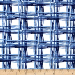 Aria Cross Hatch Navy Fabric