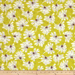 Martini Firework Floral Olive Fabric