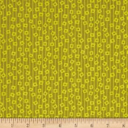 Martini Geo Stripe Olive Fabric