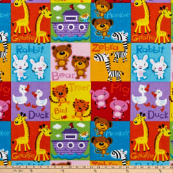 Comfy Flannel Pet Blocks Multi Fabric