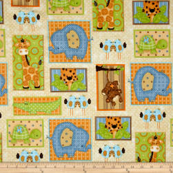 Comfy Flannel Jungle Blocks Multi Fabric