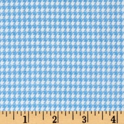 Comfy  Flannel Houndstooth Blue