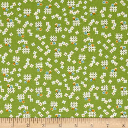 Penny Rose Toy Chest 2 Floral Green Fabric