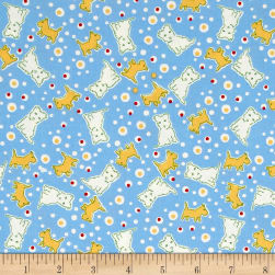 Penny Rose Toy Chest 2 Dog Blue Fabric