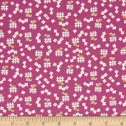 Penny Rose Toy Chest 2 Floral Purple Fabric