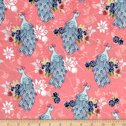 Riley Blake Into the Garden Peacock Pink Fabric
