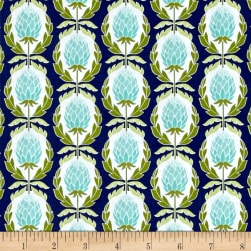 Riley Blake Into the Garden Artichoke Navy Fabric