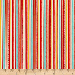 Riley Blake Road Trip Stripe Red Fabric