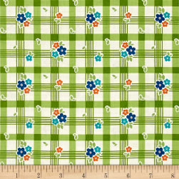Riley Blake Road Trip Tablecloth Green Fabric