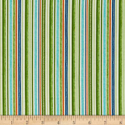 Riley Blake Road Trip Stripe Green