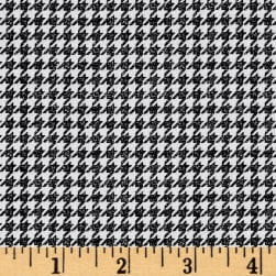 Penny Rose Meadow Sweets Houndstooth Black