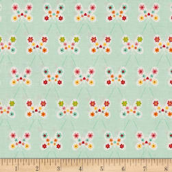 Riley Blake Garden Girl Butterfly Mint Fabric