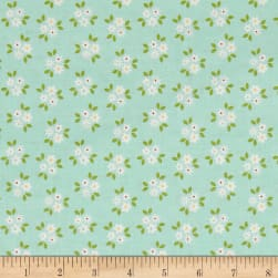Riley Blake Garden Girl Posies Mint Fabric
