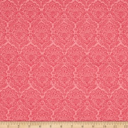 Riley Blake Garden Girl Damask Raspberry Fabric