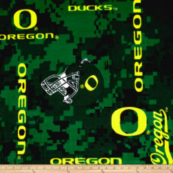 Collegiate Fleece Universtiy of Oregon Digital Fabric