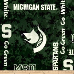 Collegiate Fleece Michigan State Digital Fabric