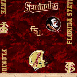 Collegiate Fleece Florida State University Digital Fabric