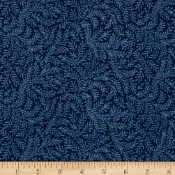 "108"" Wide Quilt Back Vine Leaf Navy"