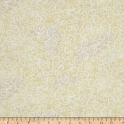 """Quilting Treasures 108"""" Wide Quilt Back Ombre Scroll Ecru"""