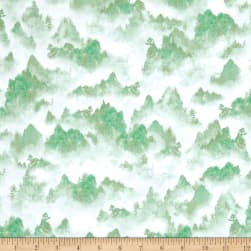 Quilting Treasures Imperial Panda Tonal Mountains Green