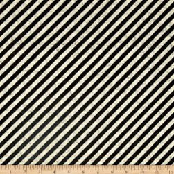 Full Steam Ahead Diagonal Stripe Black/Oatmeal