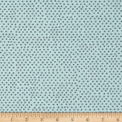 QT Fabrics Pixie Square Dot Dusty Aqua Fabric
