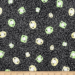 QT Fabrics Sheeps & Peeps Head Toss Black