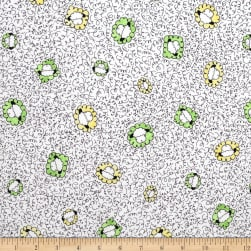 Sheeps & Peeps Head Toss White Fabric