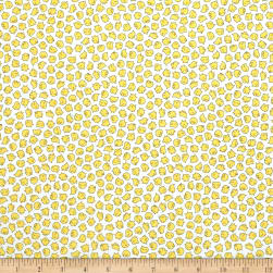 QT Fabrics Sheeps & Peeps Peeps White Fabric