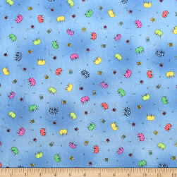 QT Fabrics Follies Tossed Pin Cushions Blue