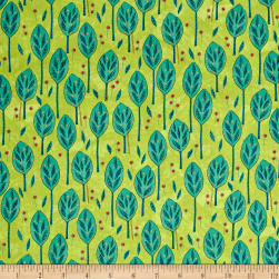 QT Fabrics The Migration Leaves Lime Fabric