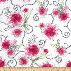 Sweet Rebellion Peonies White Fabric