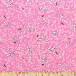 Sweet Rebellion Lily Of The Valley Pink Fabric