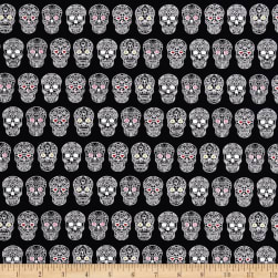 Sweet Rebellion Sugar Skulls Black Fabric