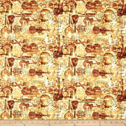Encore Instruments Silhouettes Butterscotch Fabric