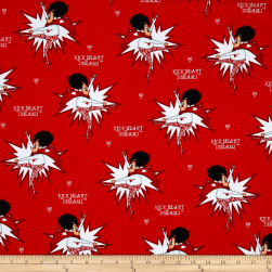 Kick Heart Disease Superlady Red Fabric