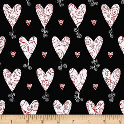 Kick Heart Disease Scroll Hearts Black
