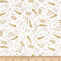 Animal Farm Animal Sounds White/Tan Fabric