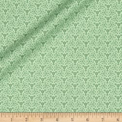 Yuna Metallic Flower Geo Sage Fabric
