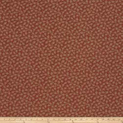 French General Adelaide Jacquard Rural Red Fabric