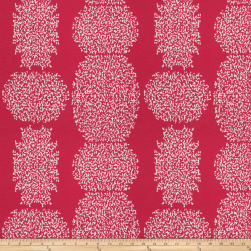 Kendall Wilkinson Beaded Batik Outdoor Raspberry Fabric